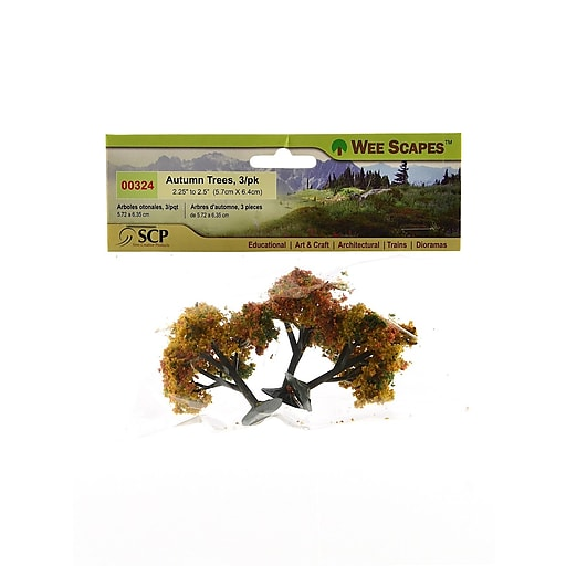 """Wee Scapes Architectural Model Trees, Autumn, 2 1/4"""" - 2 1/2"""", 3/Pack (70409-Pk3)"""
