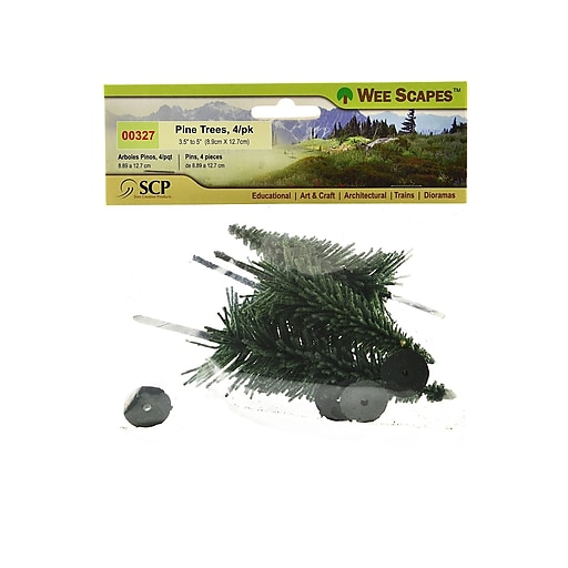 """Wee Scapes Architectural Model Trees, Pine, 3 1/2"""" - 5"""", 3/Pack (70410-Pk3)"""