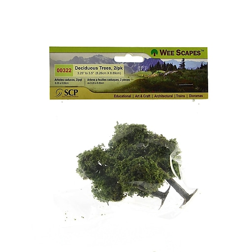 """Wee Scapes 72338-Pk3 Architectural Model Trees, Deciduous, 3 1/4"""" - 3 1/2"""", 3/Pack"""