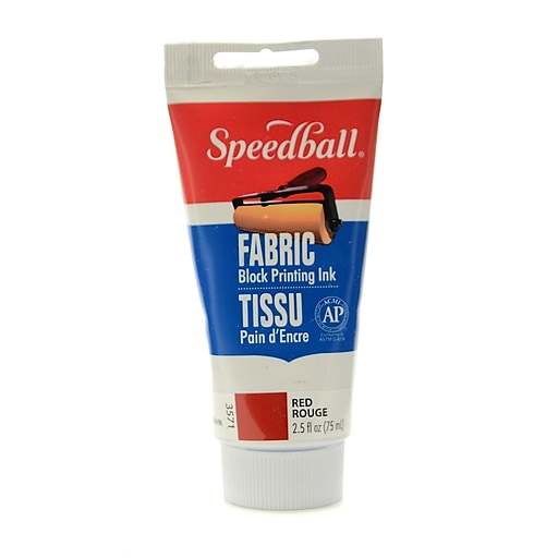 Speedball Block Printing Fabric Ink 2.5 Oz. Red [Pack Of 2]