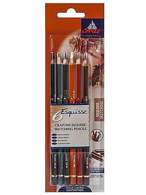 Conte Pencil Sets Sketching, 6/Set (55243)