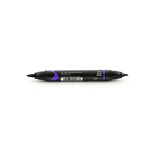 Prismacolor Premier Double-Ended Brush Tip Markers violet 050 [Pack of 6]