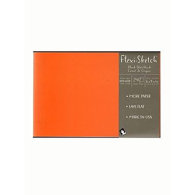 Global Art Flexi-Sketch Sketchbooks, 6in x 9in, Landscape, Mandarin, 3/Pack (67993-PK3)