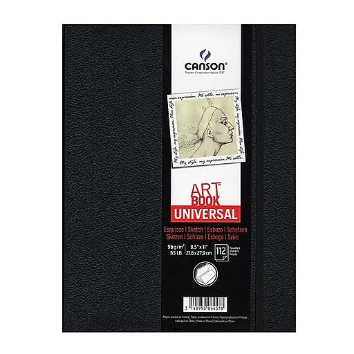 "Canson Art Book Universal Sketch Books Hardbound 8 1/2"" x 11"" 112 sheets (60504)"