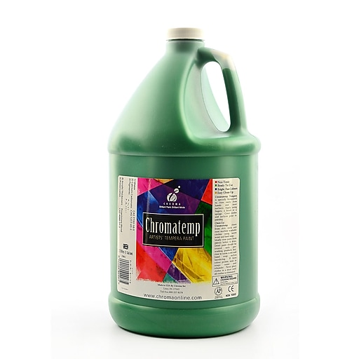 Chroma Inc. ChromaTemp Artists' Tempera Paint, Green, Gallon (75231)