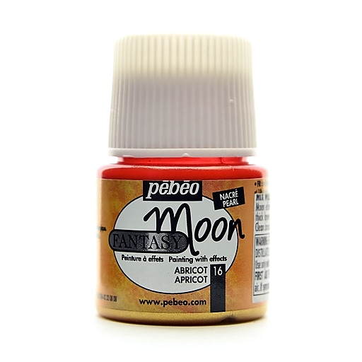 Pebeo Fantasy Moon Effect Paint apricot 45 ml [Pack of 3]