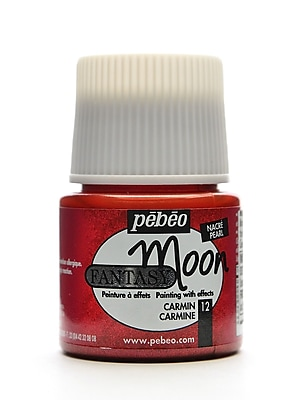 Pebeo Fantasy Moon Effect Paint carmine 45 ml [Pack of 3]