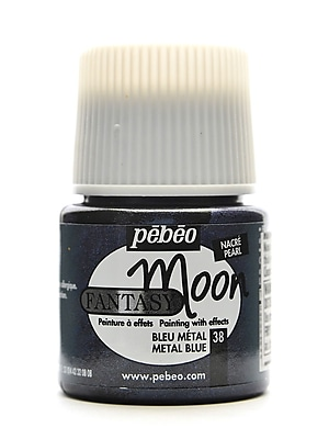 Pebeo Fantasy Moon Effect Paint metal blue 45 ml [Pack of 3]