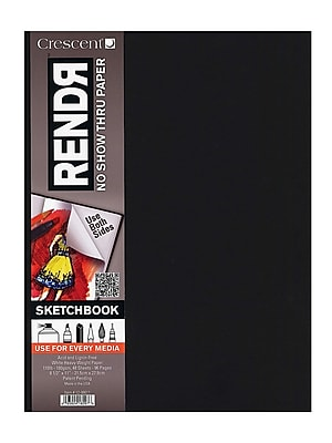 Crescent RendR No Show Thru Hardbound Sketchbook 5 1/2 in. x 8 1/2 in. hardbound sketchbook of 48 sheets [Pack of 2]
