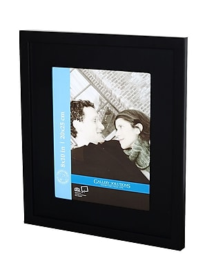 Pinnacle Frames and Accents Gallery Solutions Gallery Frames black 8 in. x 10 in. 5 in. x 7 in. opening