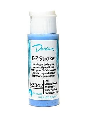 Duncan E-Z Stroke Translucent Underglaze, Teal, 1Oz, 4/Pack (10943-Pk4)