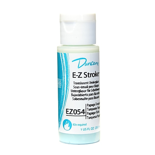 Duncan E-Z Stroke Translucent Underglaze, Papago Turquoise, 1Oz, 4/Pack (13809-Pk4)