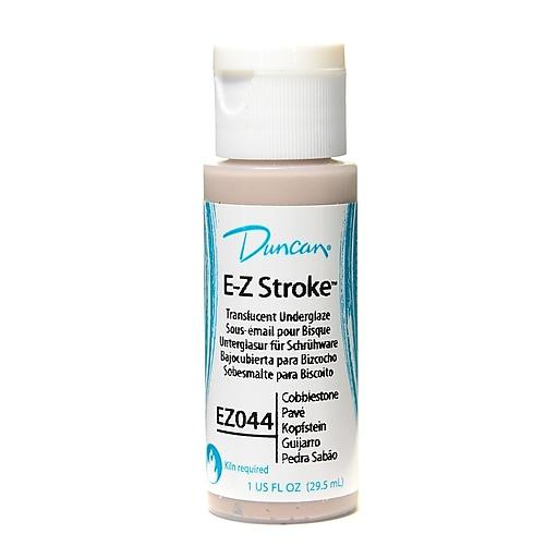 Duncan E-Z Stroke Translucent Underglaze Cobblestone 1 Oz. Pack Of 4 (17792-Pk4)