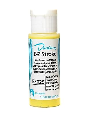 Duncan E-Z Stroke Translucent Underglaze Lemon Yellow 1 Oz. Pack Of 4 (19194-Pk4)
