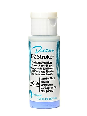Duncan E-Z Stroke Translucent Underglaze Morning Glory 1 Oz. [Pack Of 4]