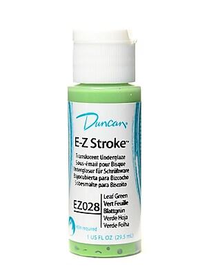 Duncan E-Z Stroke Translucent Underglaze, Leaf Green, 1Oz, 4/Pack (26615-Pk4)