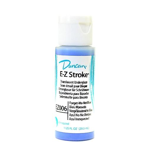 Duncan E-Z Stroke Translucent Underglaze Forget-Me-Not Blue 1 Oz. [Pack Of 4]