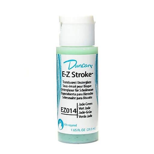 Duncan E-Z Stroke Translucent Underglaze, Jade Green, 1oz, 4/Pack (26760-PK4)