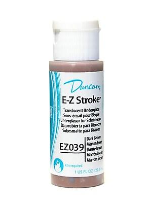 Duncan E-Z Stroke Translucent Underglaze, Dark Brown, 1Oz, 4/Pack (26967-Pk4)