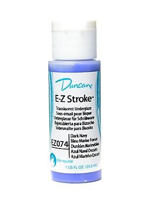 Duncan E-Z Stroke Translucent Underglaze, Dark Navy, 1Oz, 4/Pack (28970-Pk4)
