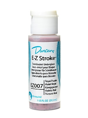 Duncan E-Z Stroke Translucent Underglaze, Royal Purple, 1oz, 4/Pack (30681-PK4)