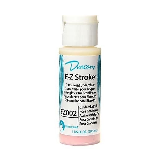 Duncan E-Z Stroke Translucent Underglaze Cinderella Pink 1 Oz. [Pack Of 4]