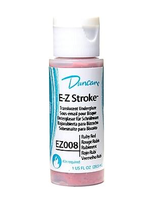 Duncan E-Z Stroke Translucent Underglaze, Ruby Red, 1Oz, 4/Pack (40882-Pk4)