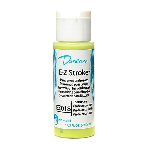 Duncan E-Z Stroke Translucent Underglaze, Chartreuse, 1Oz, 4/Pack (44962-Pk4)
