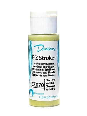 Duncan E-Z Stroke Translucent Underglaze, Olive Green, 1Oz, 4/Pack (45932-Pk4)