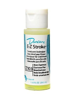 Duncan E-Z Stroke Translucent Underglaze, Neon Chartreuse, 1Oz, 4/Pack (48714-Pk4)