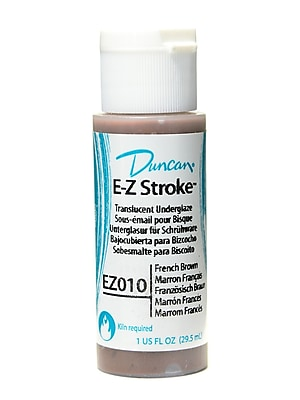 Duncan E-Z Stroke Translucent Underglaze, French Brown, 1Oz, 4/Pack (62240-Pk4)