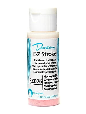 Duncan E-Z Stroke Translucent Underglaze, Honeysuckle, 1oz, 4/Pack (69648-PK4)