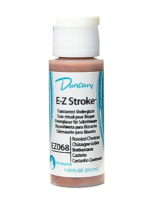 Duncan E-Z Stroke Translucent Underglaze Roast Chestnut 1 Oz. [Pack Of 4]