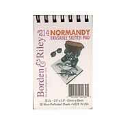 Borden  and  Riley #214 Normandy Erasable Sketch Pad 2 1/2 in. x 3 1/2 in. 50 sheets [Pack of 6]