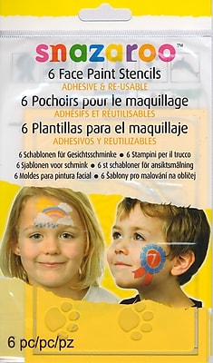 Snazaroo Face Paint Stencils Unisex set of 6 [Pack of 2]