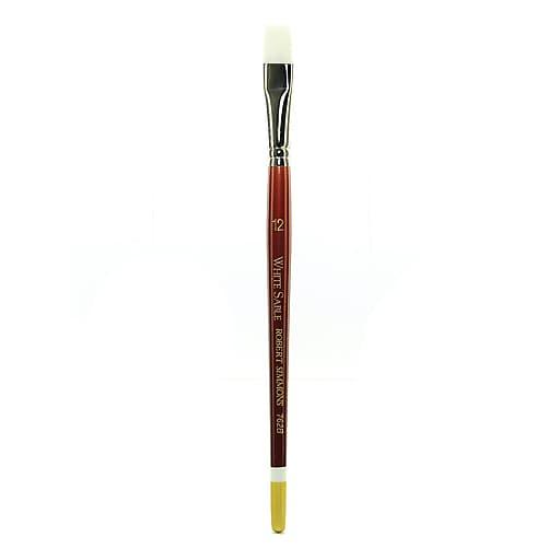 Robert Simmons White Sable Short Handle Brushes 12 bright 762B