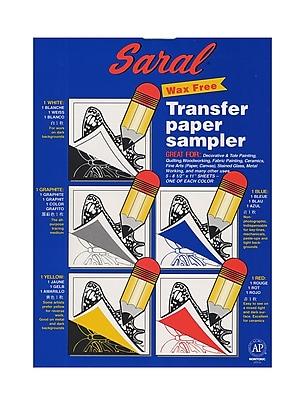 Saral Transfer (Tracing) Paper Sampler, 5 Sheets, 8 1/2