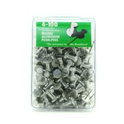Moore Push Pins 1/2 in. aluminum pack of 100 [Pack of 2]