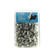 Moore Push Pins 3/8 in. aluminum pack of 100 [Pack of 2]