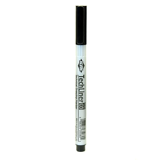 Alvin Tech-Liner Superpoint Drawing Pen/Marker 0.3 mm each [Pack of 10]