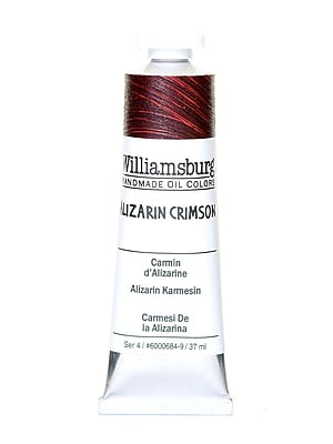 Williamsburg Handmade Oil Colors, Alizarin Crimson, 37ml (2687)