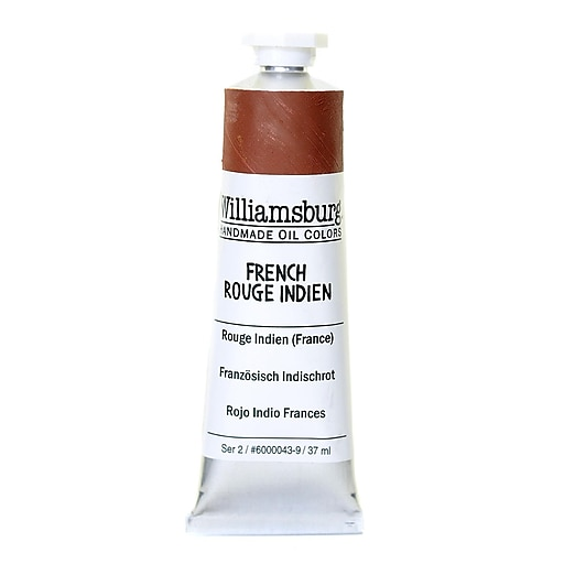 Williamsburg Handmade Oil Colors French Rouge Indien 37 ml