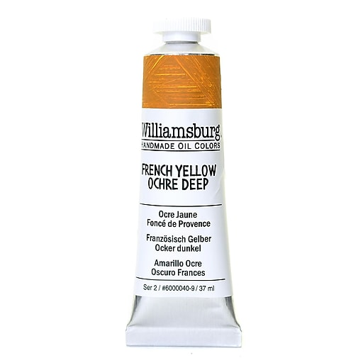 Williamsburg Handmade Oil Colors French Yellow Ochre Deep 37 ml