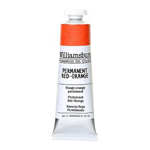 Williamsburg Handmade Oil Colors permanent red orange 37 ml
