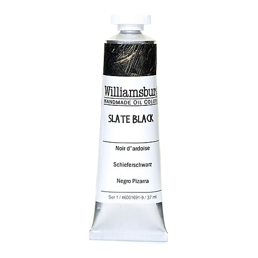 Williamsburg Handmade Oil Colors slate black 37 ml