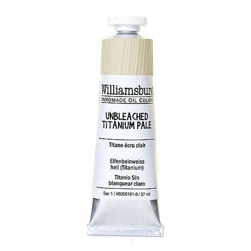Williamsburg Handmade Oil Colors unbleached titanium pale 37 ml