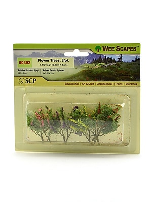 """""Wee Scapes Architectural Model Flowers and Hedges, Trees, Red, Pink, Yellow, and Purple, 1 1/2"""""""" - 2"""""""", 3/Pack (72291-PK3)"""""" 1720400"