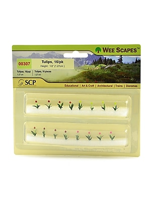 Wee Scapes 72313-PK3 Architectural Model Flowers and Hedges Tulips, 1/2in, Pack of 16, 3/Pack 1720398