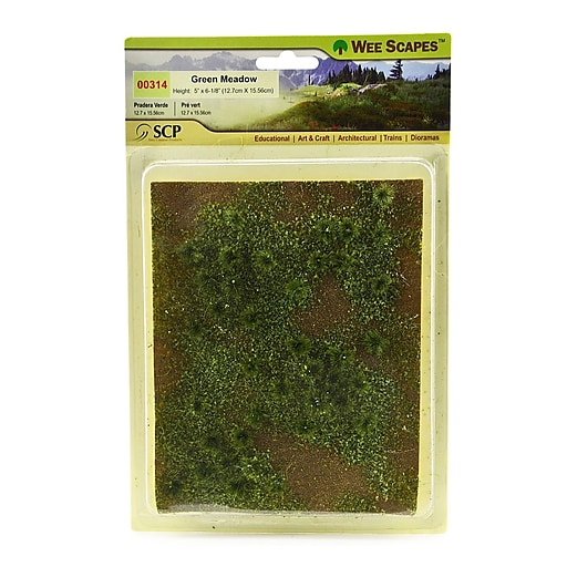 Wee Scapes 72333-Pk3 Architectural Model Flowering Meadows, Green Sheet, 3/Pack