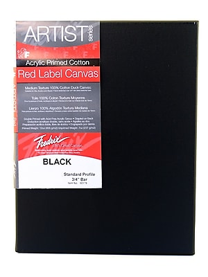 Fredrix Red Label Black Stretched Cotton Canvas, 8